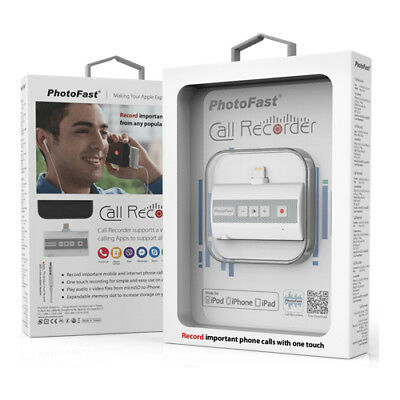 PhotoFast Call Recorder 3-in-1 Mobile Phone Call Recorder For iOS (White)