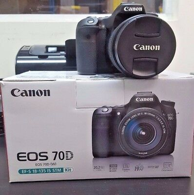 PRE-OWNED Canon EOS 70D 20.2MP Digital SLR Camera w/ EF-S 18-135mm IS STM