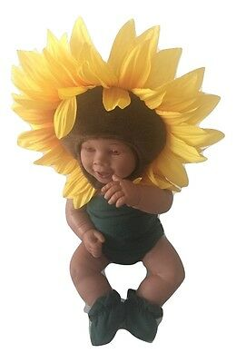 Anne Geddes Sunflower African American Poseable Collectible Doll