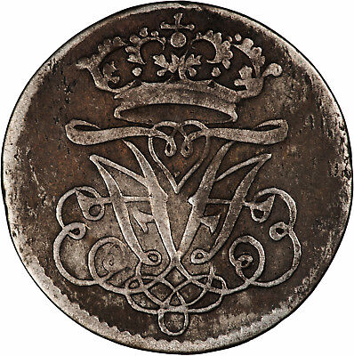 Norway 1700 2 Skilling VF, SCARCE ISSUE, VERY HIGH CATALOG VALUE!