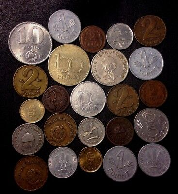 Old Hungary Coin Lot - 1885-PRESENT - 24 Excellent Coins - Great Mix - Lot #922