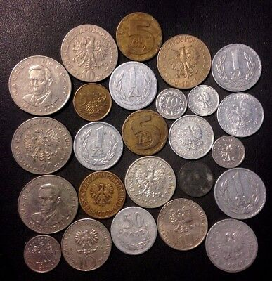 Old Poland Coin Lot - 1923-PRESENT - 25 Excellent Coins - Lot #922