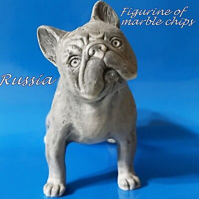 French bulldog figurine dog marble chips realistic Souvenirs from Russia
