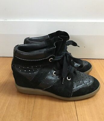 Isabel Marant Betty Leather And Suede Sneakers - Size 39