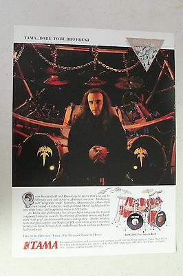 QUEENSRYCHE Tama Drums Scott Rockenfield Full Page AD magazine clipping