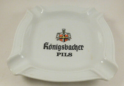 Konigsbacher Pils Ashtray White Vintage