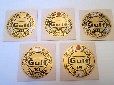 Gulf Oil Years Of Service Anniversary Decals