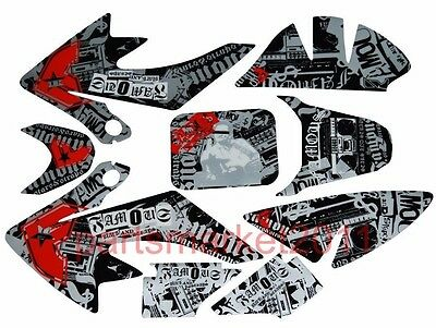 3M Radio Decals Graphics Stickers For Honda CRF50 Pit bike Thumpstar SSR SDG DHZ