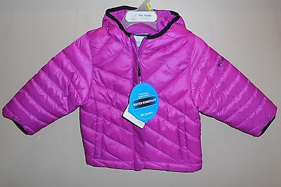 New Girls Size 2T COLUMBIA Powder Lite Puffer Jacket Coat Pink Nwt Hooded