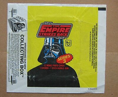 Star Wars The Empire Strikes Back Trading Card Wrapper - Topps 1980 Series 3 !!!