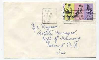 AUSTRALIA  1971: small commercial cover with single 7c Asia/Theatre franking