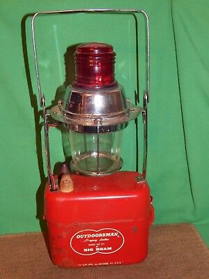 Vintage OUTDOORSMAN BIG BEAM 241, Railroad & Other, Hand Lantern, parts, as-is!