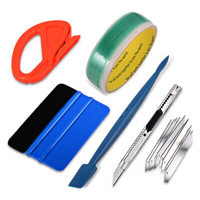 Professional Auto Window Tint Fitting Tools Kit Car Wrap Applicator Squeegee USA