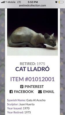 "Extremely rare mint condition ""stalking cat"" lladro figurine retired in 1975!"