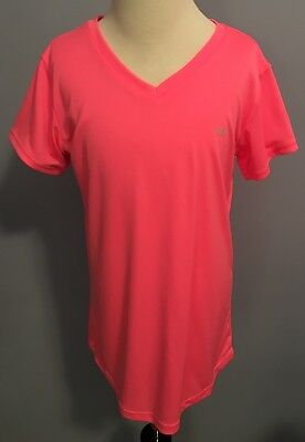 Girl Champion Athletic Shirt Size XL 14 16 DUO DRY Short Sleeve Pink Youth