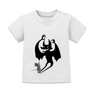 Scary Bat And Mouse Baby T-Shirt