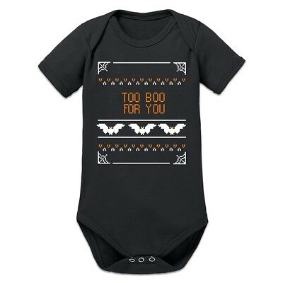 Too Boo For You Bat Baby Strampler