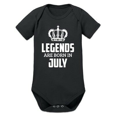 Legends Are Born In July Baby Strampler