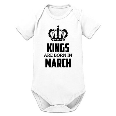 Kings Are Born In March Baby Strampler