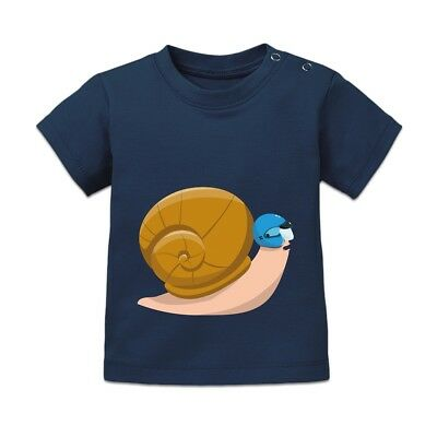 Snail With Helmet  Baby T-Shirt