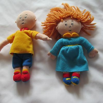 CAILLOU + ROSIE PLUSH DOLLS LOT 5 - 6 inches CINAR