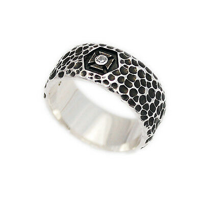 HAND HAMMERED BAND RING 925 STERLING SILVER MEN'S WOMEN'S FINE JEWELRY ks-r087