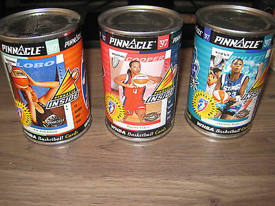 1997 Pinnacle WNBA basketball cards in cans 3 cans