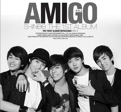SHINEE [AMIGO] 1st Repackage Album CD+Photo Book+GIFT CARD K-POP SEALED