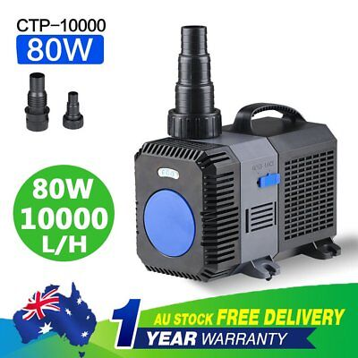 10000L/H 80W Submersible Aqua Aquarium Fountain Pond Marine Water Pump Fish Tank
