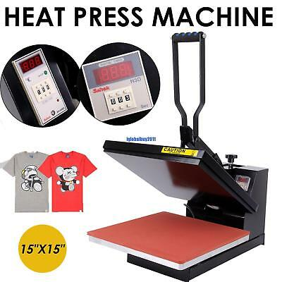 "15""X15"" Clamshell T-shirt Heat Press Machine Sublimation Transfer DIY"
