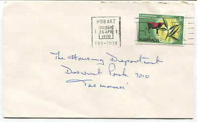 AUSTRALIA 1970: small commercial cover with single 5c Grasslands franking