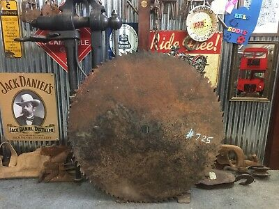 Vintage Industrial Rustic Milling Saw Blade Bar Man Shed item #725