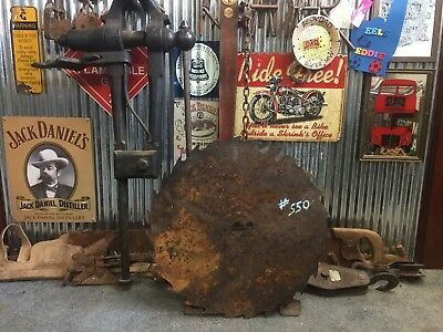 Vintage Industrial Rustic Milling Saw Blade Bar Man Shed item #550