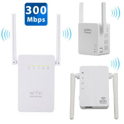 AU 300Mbps Wireless-N Range Extender WiFi Repeater Signal Booster Network Router