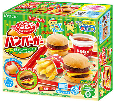 KRACIE POPIN COOKIN HAMBURGER KIT.DIY Japanese burger candy.Happy Kitchen.Poppin