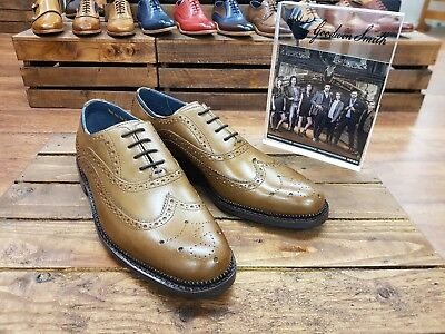 90042db4969 GOODWIN SMITH // Chatworth // Tan Mens Brogues Shoes // REDUCED Was £99.99