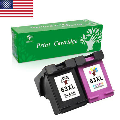 3X 63XL High Yield Ink Cartridge Combo for HP Envy 4520 4526 Officejet 3830 4650