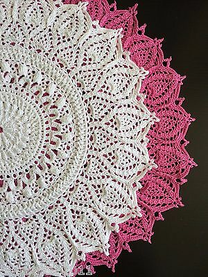 SALE!!!!!  New white color handmade crocheted doily