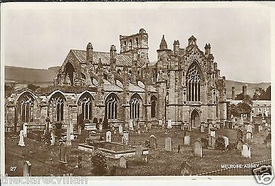 Melrose Abbey  _ Old Unposted Real Photograph