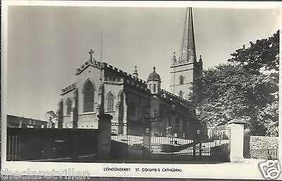 Londonderry St. Columb's Cathedral   Old Unposted Real Photograph