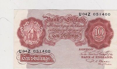 B266 Beale U04Z Ten Shilling Banknote In Near Extremely Fine Condition