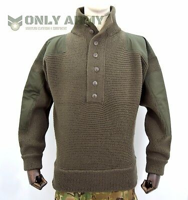 NEW Austrian Army Wool Jumper Commando Alpine Olive Pullover Cold Weather Thick
