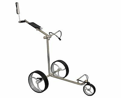 Tour Made rt-210s Stainless Steel Bikes Silver 3-Rad Golf Push Trolley Caddy NEW