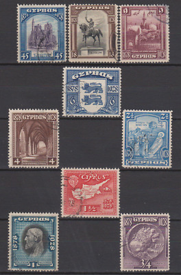 Cyprus 1928 Used Set to 45pi Cat £172