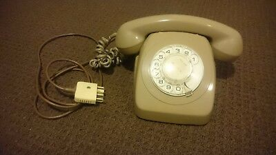 VINTAGE Antique Rotary Dial Telephone ~1980s (1984 or less)