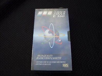 2 X Bbc 3 Hour Blank Video Cassettes New Sealed
