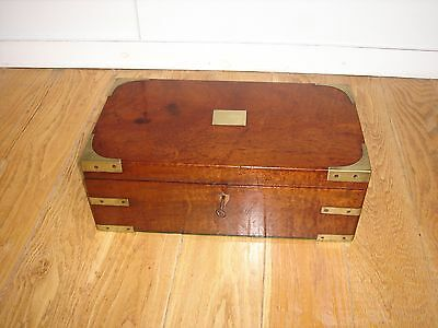 Georgian Writing Slope/Box/Traveling Desk Mahogany with Brass straps & escutions