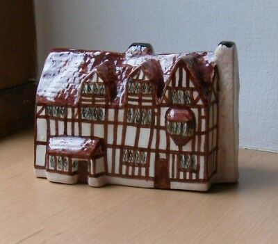"William Shakespeare Miniature Cottage by A. Thornton  3"" x 1.5"" x 2"""