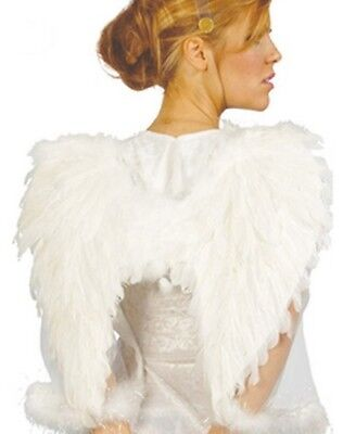 Paire d'AILES plumes Blanches déguisement Femme Homme Costume Ange Halloween