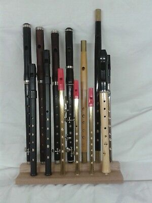 Flute - Fife - Tin Whistle Display Stand/Holder - Holds 13 instruments.